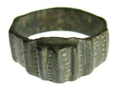ANCIENT BYZANTINE BRONZE RING c.500 AD - 600 AD - SIZE 6