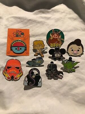Pin Trading Disney Pins Lot of 10 As Pictured Mickey, Star Wars, Ursula, Tiki