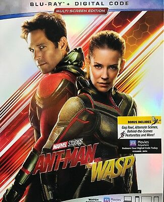 MARVEL ANT-MAN AND THE WASP Blu Ray + Digital HD & Slipcover New  ALL REGION