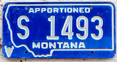 Incused Silver on Metallic Blue Montana Apportioned License Plate