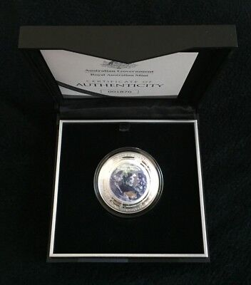 2018 $5 The Earth and Beyond: The Earth - Coloured Fine Silver Proof Domed Coin