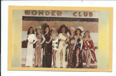 Postcard Post Card New Orleans Louisiana La Female Impersonators Wonder Club