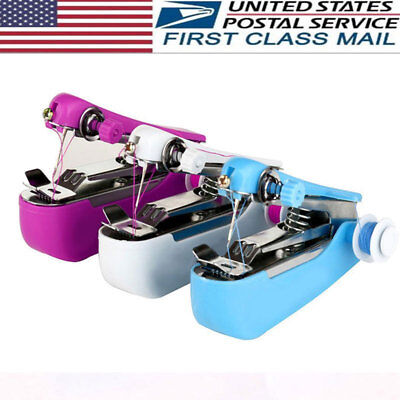 Portable Mini Handheld Sewing Machine Clothes Stitch Manual Sewing Machine US
