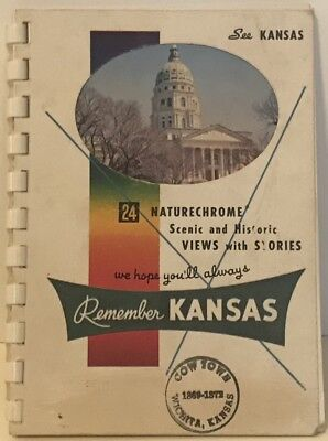 See Kansas Travel Pictorial Tourist Travelogue Guide Book 1949 History Scenic