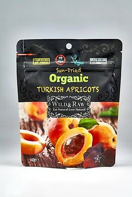12 PACK X Wild & Raw Organic Turkish Apricots 142 G