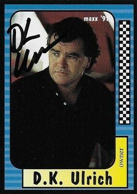 D.k. Ulrich Autographed Signed 1991 Maxx Racing Nascar Photo Trading Card #156