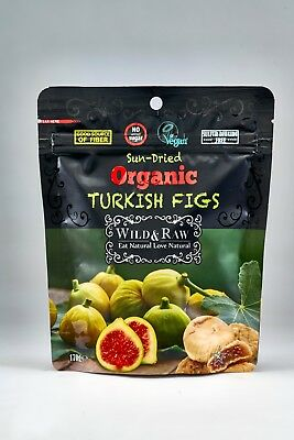 12 PACK X Wild & Raw Organic Turkish Figs 170 G