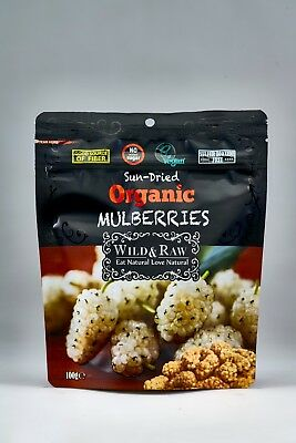 12 PACK X Wild & Raw Organic Mulberries 100 GR