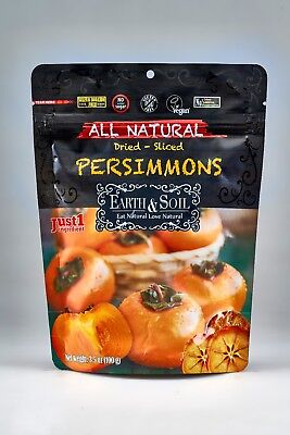 12 PACK X Earth & Soil Natural Dried - Sliced  Persimmons 100 G