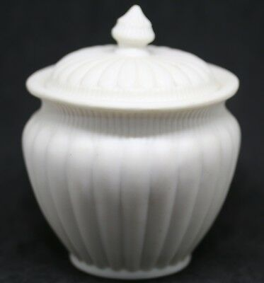 #G Antique Parian Ware English 1890's Lidded Bowl  3.0""