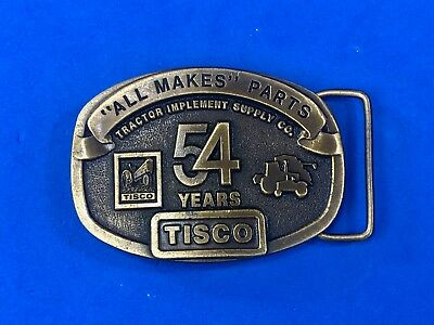 Vintage 1991 Tisco All makes Parts  - tractor supply farm  54 years belt buckle