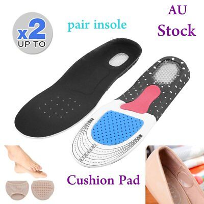 Unisex Orthotic Support Shoe Pad Sport Running Gel Insoles Insert Cushion Kit 1&