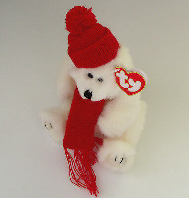 TY Beanie Baby The Attic Collection Peppermint NEW 1993 White Christmas Bear NWT