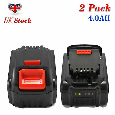 2Pcs 18V 4.0AH XR Li-ion Battery For Dewalt DCD785 DCB180 DCB182 DCB205 DCB201-2