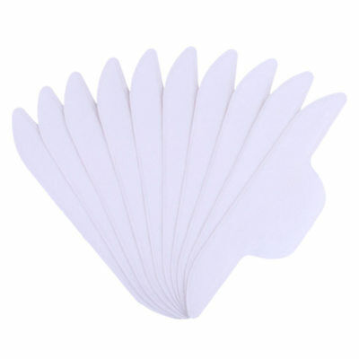 10x Disposable Collar Protector Sweat Pads White Collar Self-Adhesive Neck Pad