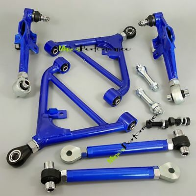 BLUE ADJUSTABLE REAR Lower Control Arm Suspension For 240Sx