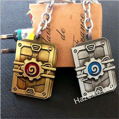 Hearthstone Metal Card Pack Pendant Key Ring Chain Keychain Toy