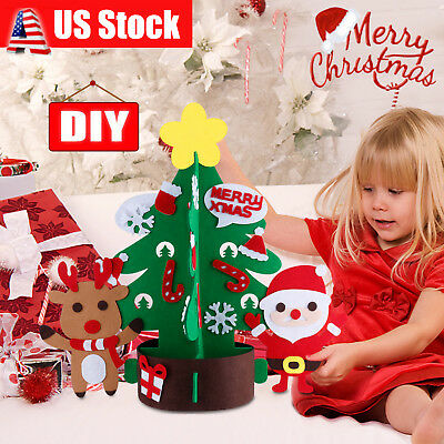 US Kids Children DIY Felt Christmas Tree Ornament Gift New Year Xmas Decor 2018
