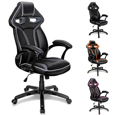 Executive Racing Sports Gaming Office Chair High Back Swivel Computer Chairs UK