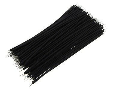 【10CM】 24AWG Standard Jumper Wire Pre-cut Pre-soldered - Black - Pack of 100