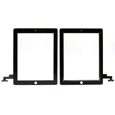 Front Panel Touch Screen Glass Digitizer Black + Home Button Assembly For iPad 2
