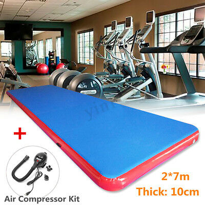 Inflatable Air Track Floor Mat Gymnastics Fitness Training Yoga Pad 2*7*0.1m
