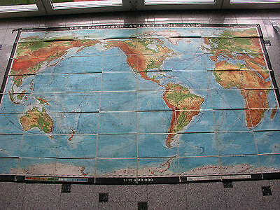 Wall Map World Atlas Oh.indien 270x170cm 1966 Vintage World Wall Map Card B 世界地图