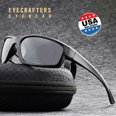 New Polarized Sport Sunglasses Mens Outdoor Cycling Running Fishing Sunglasses