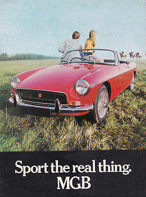 MG, SPORT THE REAL THING. MGB BROCHURE, PUBLICATION No.2724.