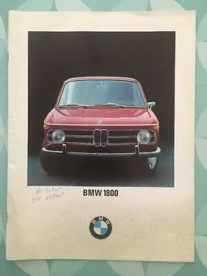 Brochure BMW 1800 Prospekt 1968 French 16 pages