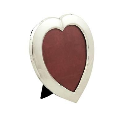 """Antique Victorian Sterling Silver 7"""" Heart Photo Frame - 1900"""
