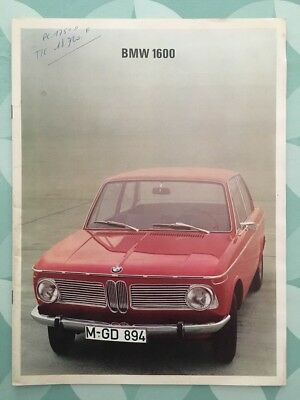 Brochure BMW 1600 Prospekt 1967 French 16 pages