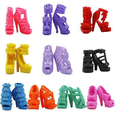 10Pairs High Quality Sandal Shoes Boots Accessories Clothes For Barbie Doll Gift