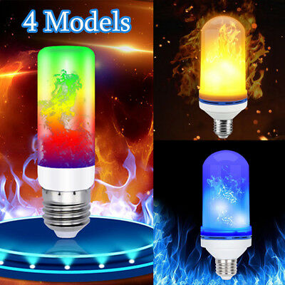 4 Models E27 B22 5W LED Burning Light Flicker Flame Bulb Fire Effect Lamp Decor