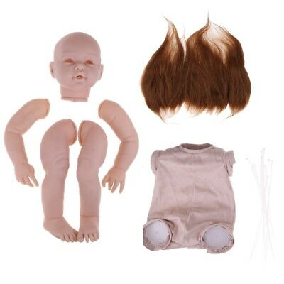 29inch Toddler Reborn Kits Blank Baby Mold & Cloth Body & Pure Mohair Hair