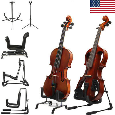 Foldable Ukuleles Bass/Guitar Stand Black A-Shaped Single Vertical Stretching US
