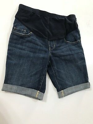 Old Navy 4 Maternity Blue Denim Shorts Women Stretch Pockets