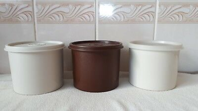 3 Vintage Tupperware Containers