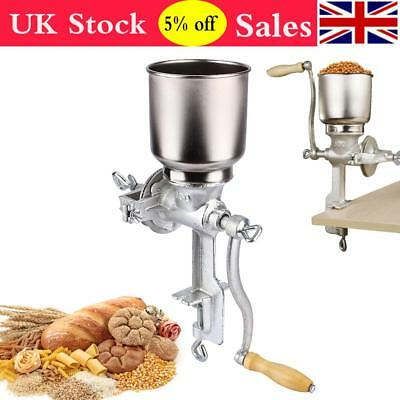 Cast Iron Corn Mill Grinder Manual Hand Crank Grains Oats Corn Wheat Nuts Coffe