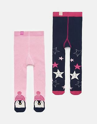Joules Baby Anikins 2pk Tights in PENGUIN AND STAR