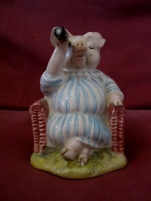 Rare Retired Beswick Beatrix Potter Figurine Little Pig Robinson Spying 3031