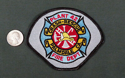 Palmdale CA PLANT 42 AFB Fire Crash Department  Patch Air Force Antelope Valley