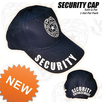 Security Cap Adjustable Security Hat Guard Officer One Size Fits adult Strapback