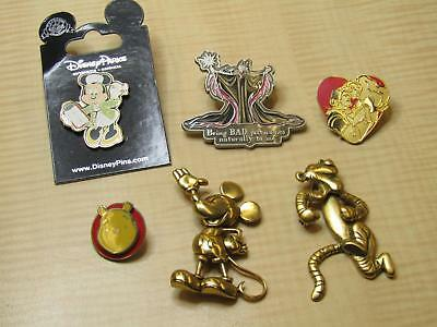 Disney Brooches & Lanyard Trading Pins Lot Tigger Mickey Maleficent Minnie AS IS