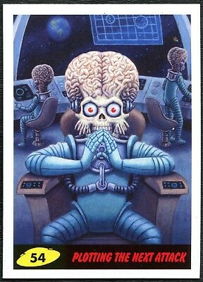 Plotting Next Attack #54 Mars Attacks The Revenge 2017 Topps Trade Card (C2267)