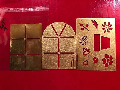 Brass Stencils Embossing 3 PCS Conner Collectibles FLORAL,DIVIDER, ARCH #19