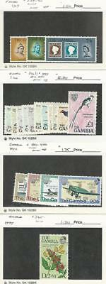 Gambia, Postage Stamp, #238-40, 493-6 Mint NH, 216//227 LH, 365 Used, JFZ