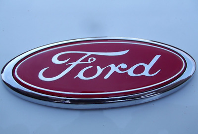Ford Badge Transit Connect Mondeo Fiesta 115mm x 45mm (RED)