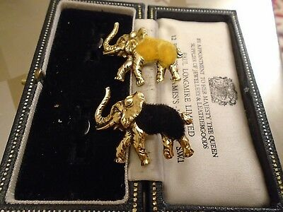 Vintage Job Lot Retro Brooches Collection Animal  - Marching Baby Elephants By