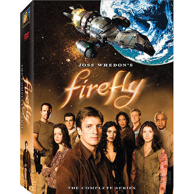 FIREFLY Joss Whedon COMPLETE SERIES DVD BOX SET 4 disc EXC COND Nathan Fillion